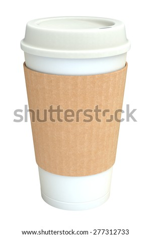Coffee cup isolated on white - stock photo
