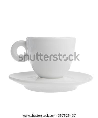 Coffee cup isolated on white side view - stock photo