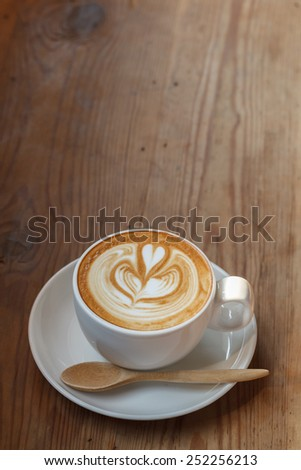 coffee cup latte - stock photo