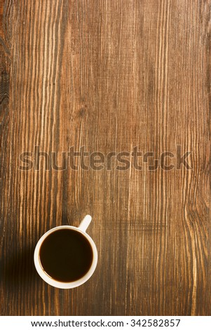 Coffee Cup On The Table./ Coffee Cup On The Table. - stock photo