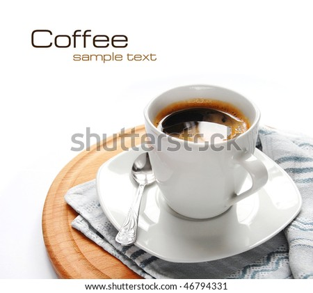 Coffee (easy to remove the text) - stock photo