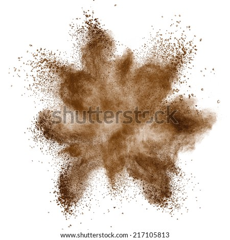 Coffee explosion isolated on white background - stock photo