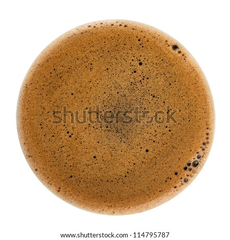 Coffee Foam isolated on white background with clipping path - stock photo