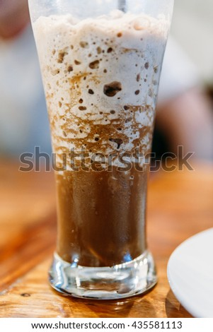 Coffee Frappe in Cafe at Luang Prabang, Laos - stock photo