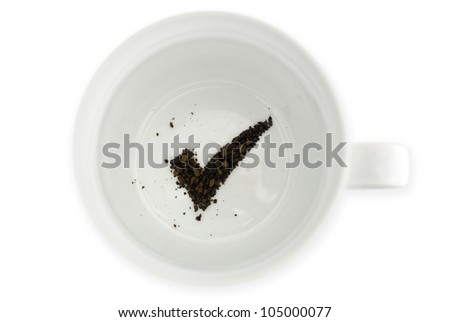 Coffee grounds reads the future for success. Concept photo of good, luck, omens, lucky, chance, business, finance and fortune. - stock photo