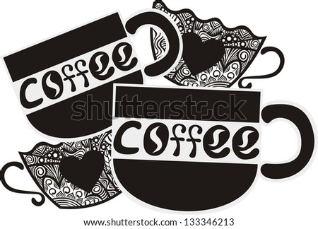 Coffee illustration - stock photo