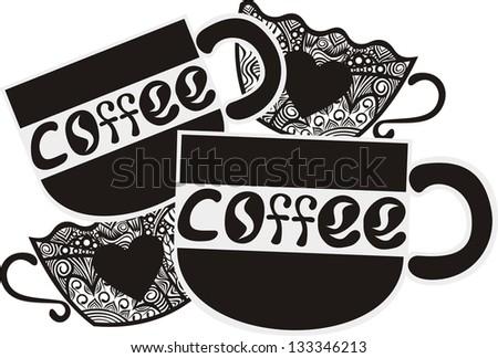 Coffee illustration - stock photo
