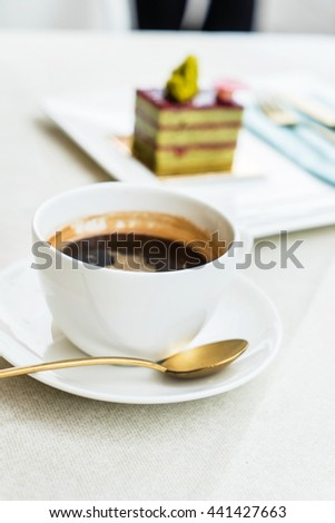coffee in the cafe - stock photo