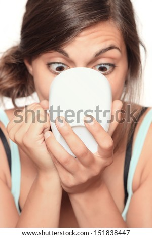 coffee junkie - focus on cup with copy space - stock photo