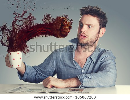 coffee knock out, the wake up coffee - stock photo