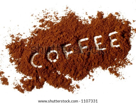 Coffee letters - stock photo