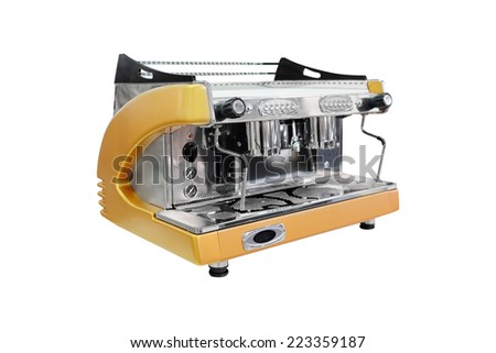 coffee-machine under the white background - stock photo
