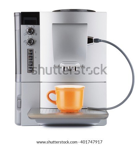 Coffee Machine With Cup - stock photo