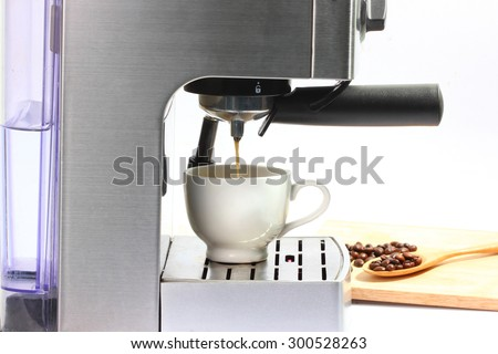 Coffee maker machine - stock photo
