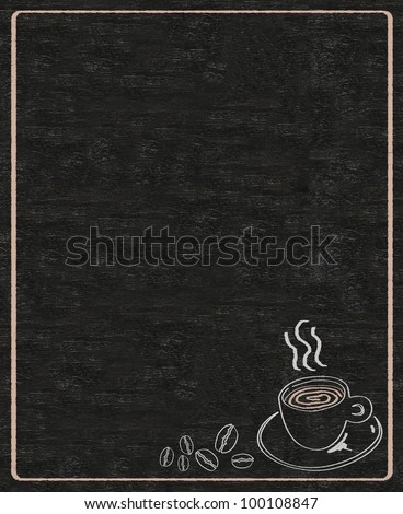 coffee menu written on blackboard background high resolution - stock photo