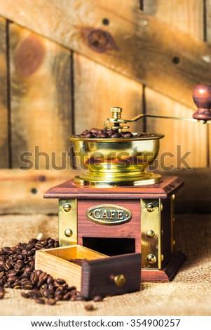 Coffee mill - stock photo