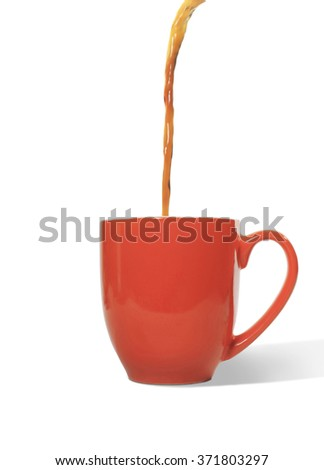 Coffee pouring into cup - stock photo