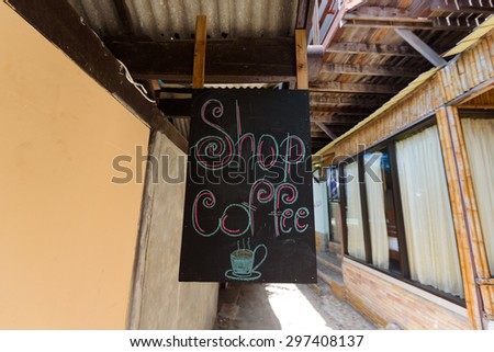 Coffee Sign - stock photo