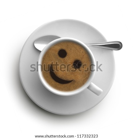 coffee smile - stock photo