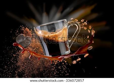 Coffee splash - stock photo