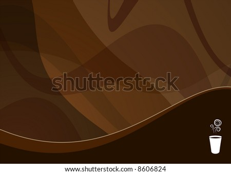 coffee wave background ideal for menus - landscape version - stock photo