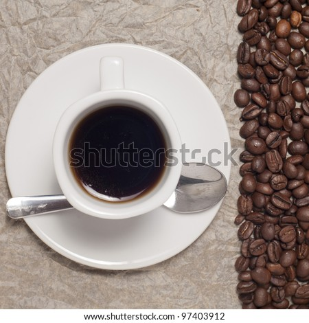Coffee with background - stock photo