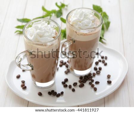 Coffee with milk - stock photo