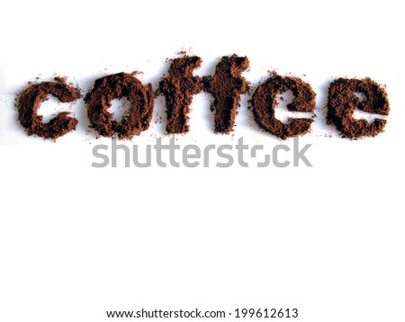 Coffee written with coffee - stock photo