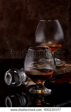 Cognac brandy whiskey - stock photo