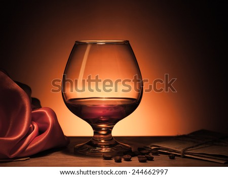 cognac glass - stock photo