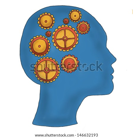 Cogs of the mind - stock photo