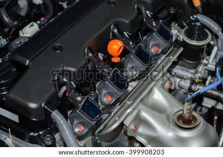 coil engine car - stock photo