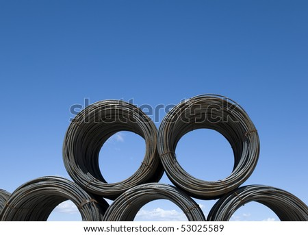 Coils of rebar - stock photo