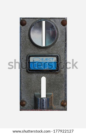 Coin box cutter white background. - stock photo