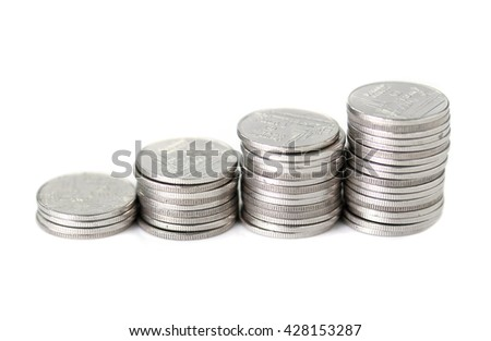 coin currency exchange  in Thailand  - stock photo
