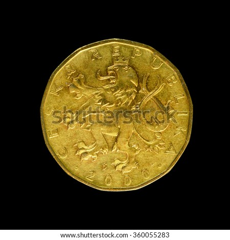 Coin Czech Republic  - stock photo