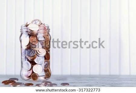 Coin Jar. - stock photo