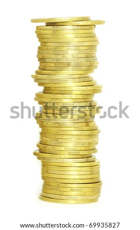coin pile - stock photo
