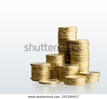 Coin, stack, fund. - stock photo