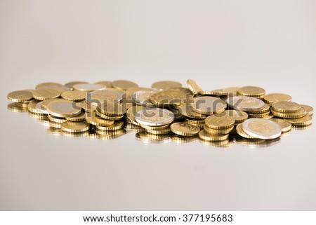 Coins Economy - stock photo