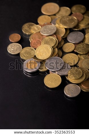 Coins. Finance system concept - stock photo