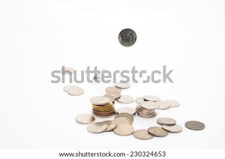 coins isolated - stock photo