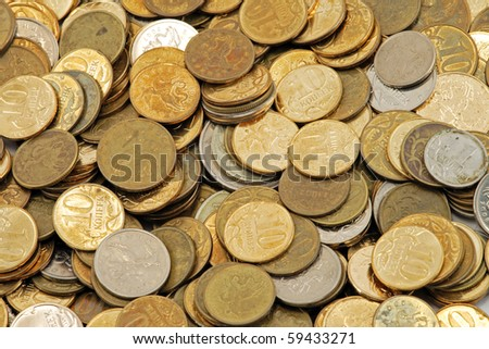 Coins Wallpaper - stock photo