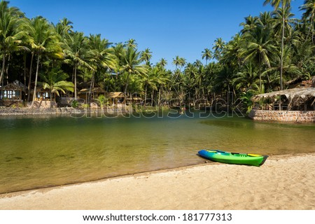 Cola Beach, South Goa, India - stock photo