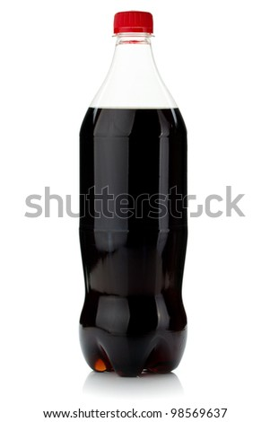 Cola bottle. Isolated on white background - stock photo