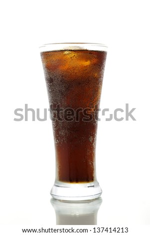 Cola drink on a white background - stock photo