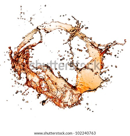 Cola splash, isolated on white background - stock photo