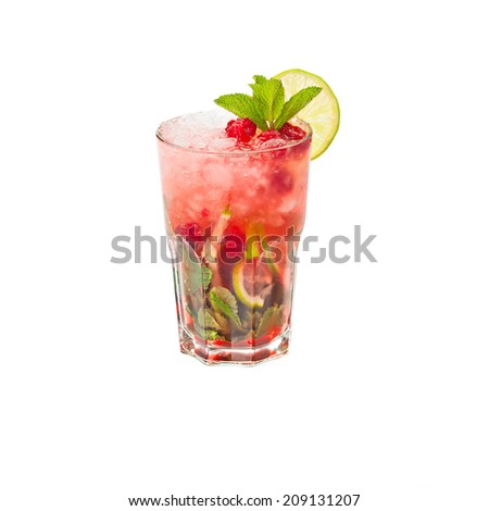 Cold alcoholic cocktail  - stock photo