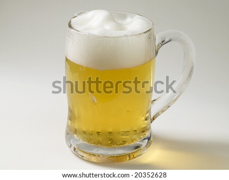 Cold beer mug - stock photo