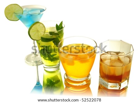 cold drinks - stock photo